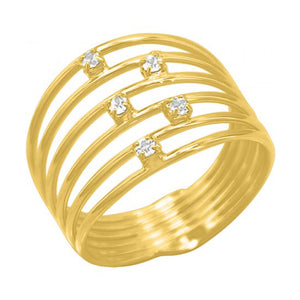 Coil Wrap 18K Gold Plate Ring