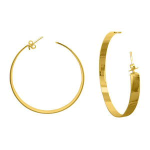 Vixen Large Hoop Earrings in Gold