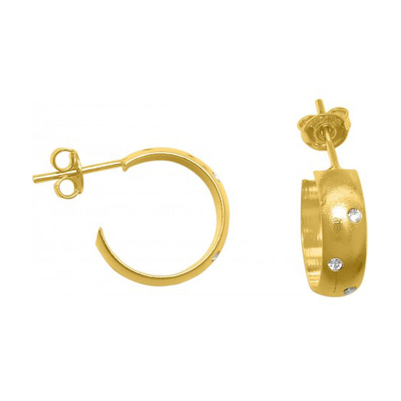 Avalon Hoop Earrings in Gold