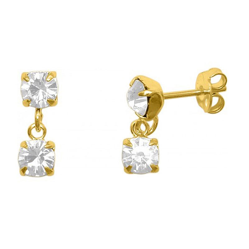 Mena Duo Drop Studs- Gold Earring