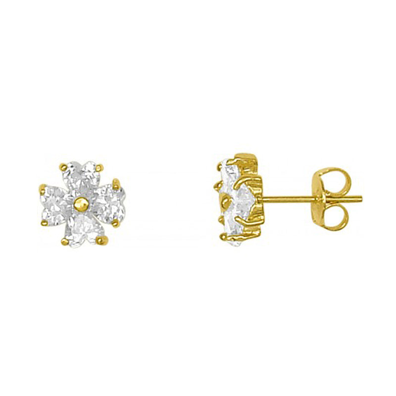 Tasmin Flower Studs In Gold Earrings