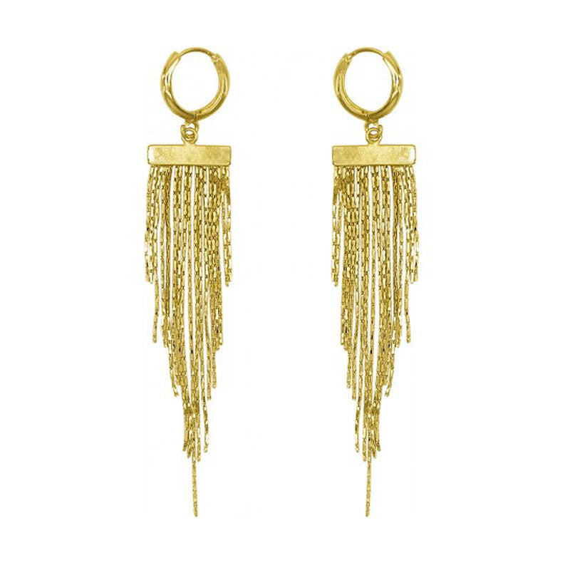 Norma Multi Chain Drop Earrings in 18K Gold Plated