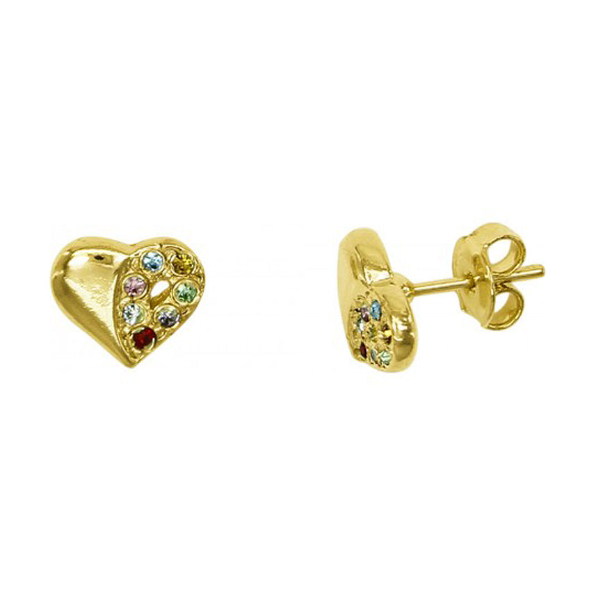 Sylvia Heart Earrings with Studs