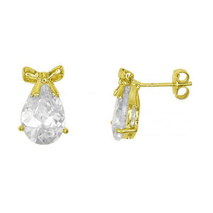 Juna Bow Earrings in 18k Gold Plated