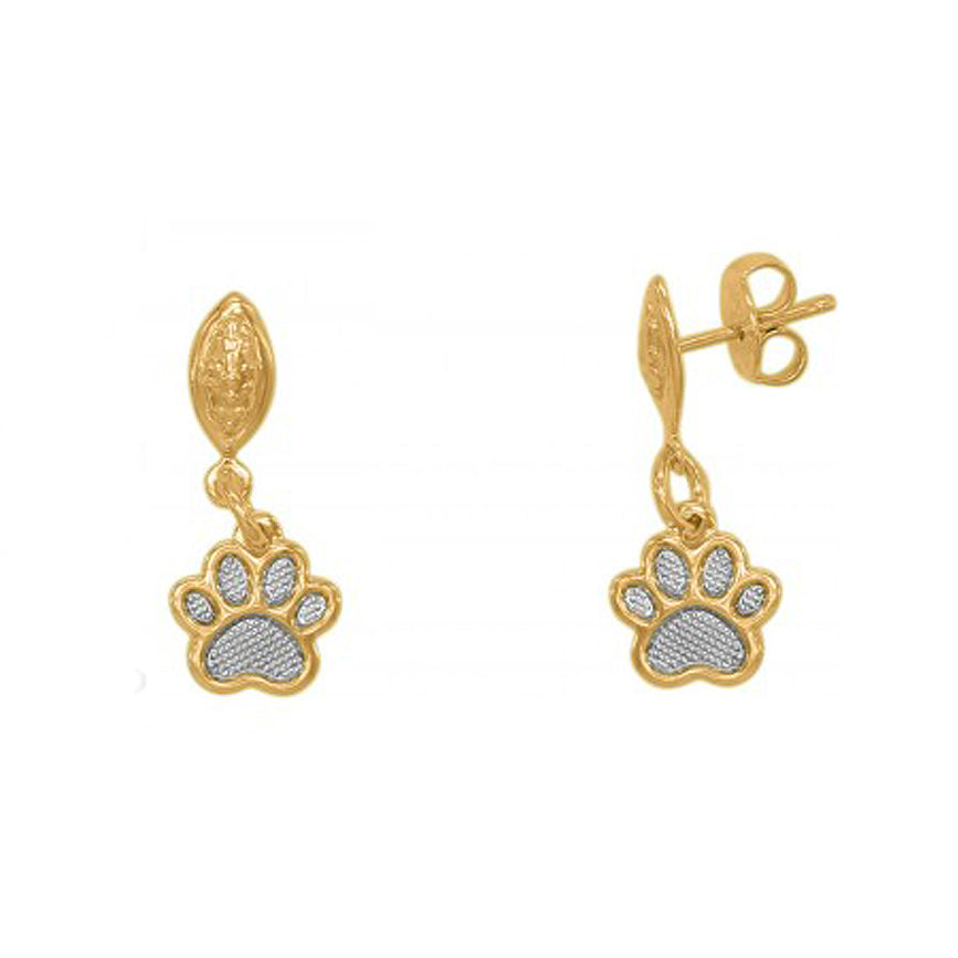 18K Gold Plated Paw Drop Earrings