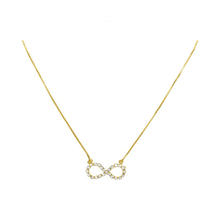 Infinity Necklace in Gold with