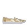 Isabella Slip On Sneakers in Gold Leather