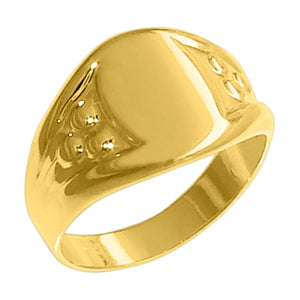 18k Gold Plated Signet Ring