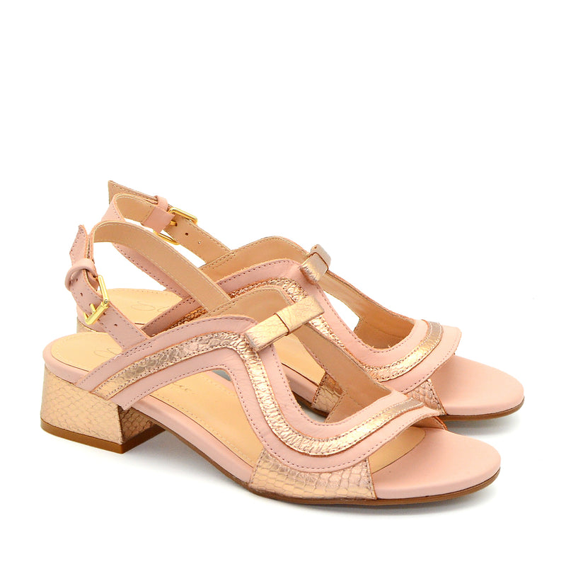 Clemence Blush & Rose Gold Sandals