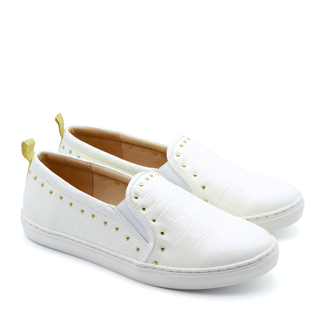 Bruna Slip On Sneakers in White