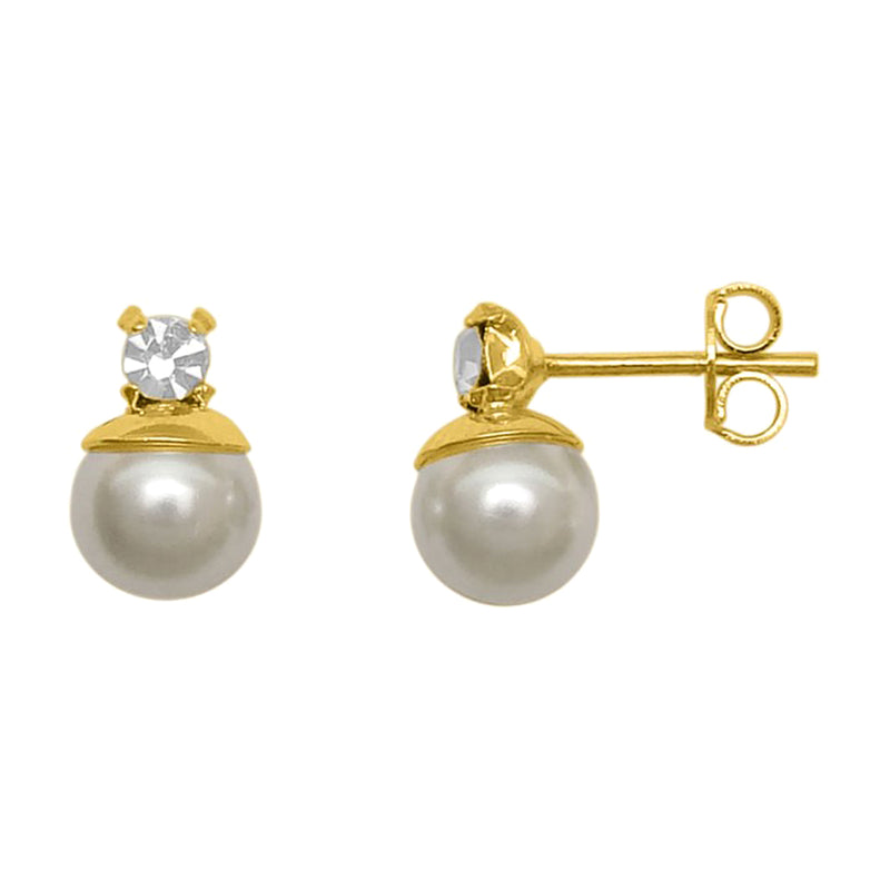 Nahara Pearl Drop Stud Earrings