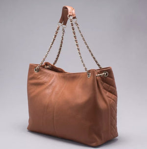 Capodarte Matelasse Tote Bag | Shoulder Bag in Brown