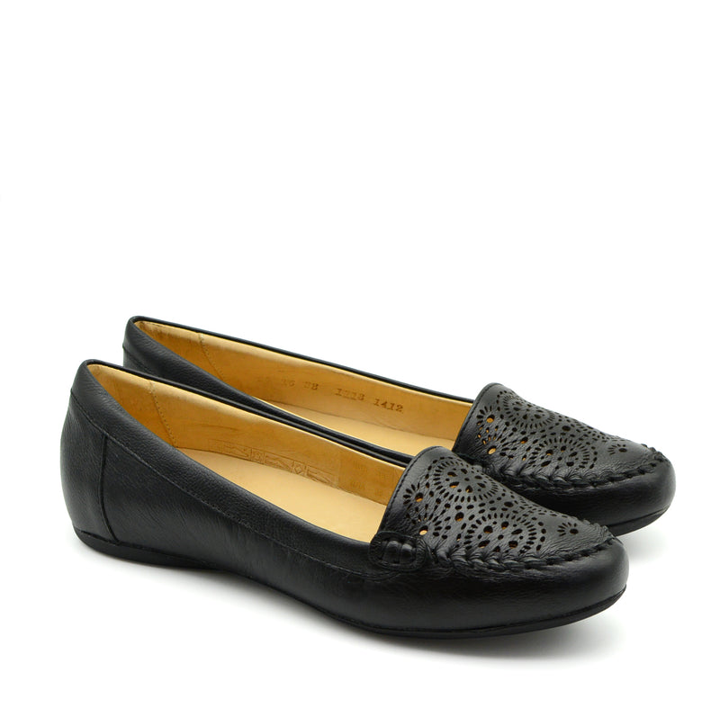 Samantha Ballet Flat Shoes in Black