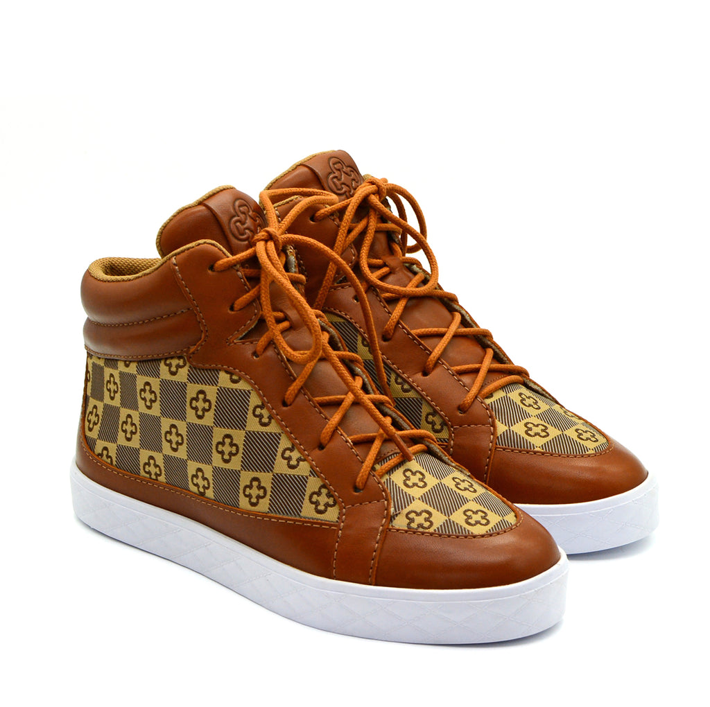 Josephine Sneaker in Tan & Contrast Sole