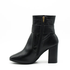 Zoey Black Mid-Calf Ankle Boots