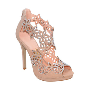 Cassiane Blush Cross-Strap Sandals