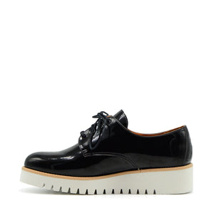 Olivia Black Patent Sneakers