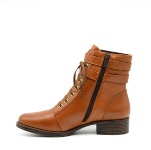 Emma Tan Ankle Boots with Laces