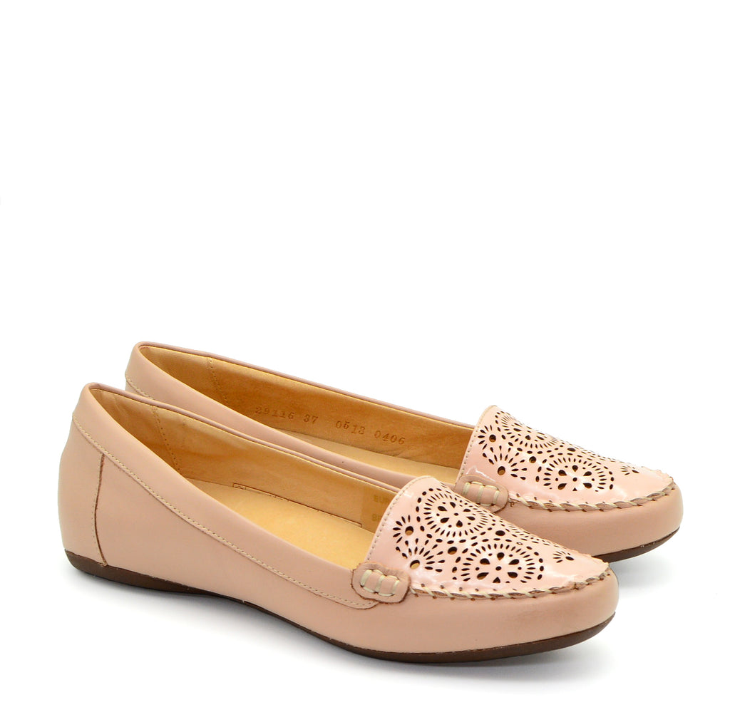 Samantha Ballet Flat Shoes in Blush