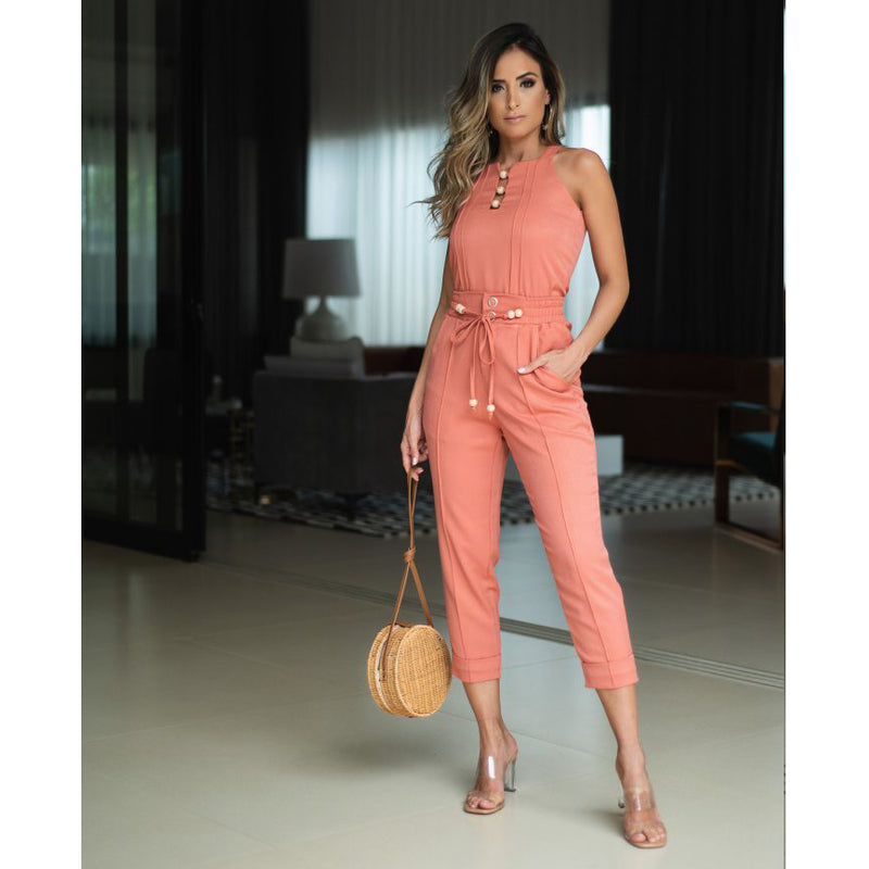 Evelyn Cargo Pants in Coral