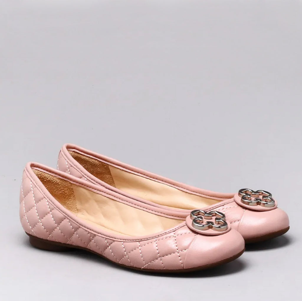 Sam Ballet Flat Shoes in Blush