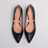 Lucia Low Block Heeled Shoes in Black