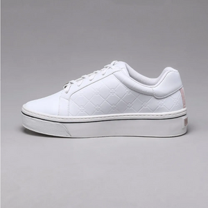Ximena Lace up Sneakers in White