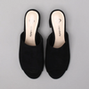 Luciana Heeled Mules in Black Suede