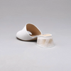 Valeria Acrylic Block Heel Mule in White Calf Leather