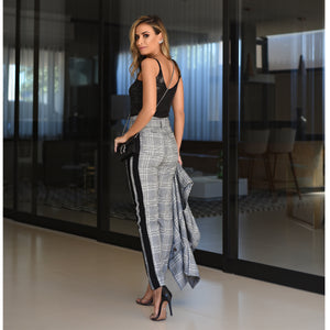 Eva Chess Pants Grey, Black & White