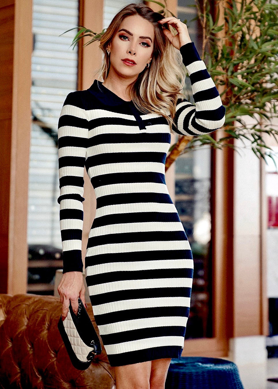 Joyce Striped Knit Dress