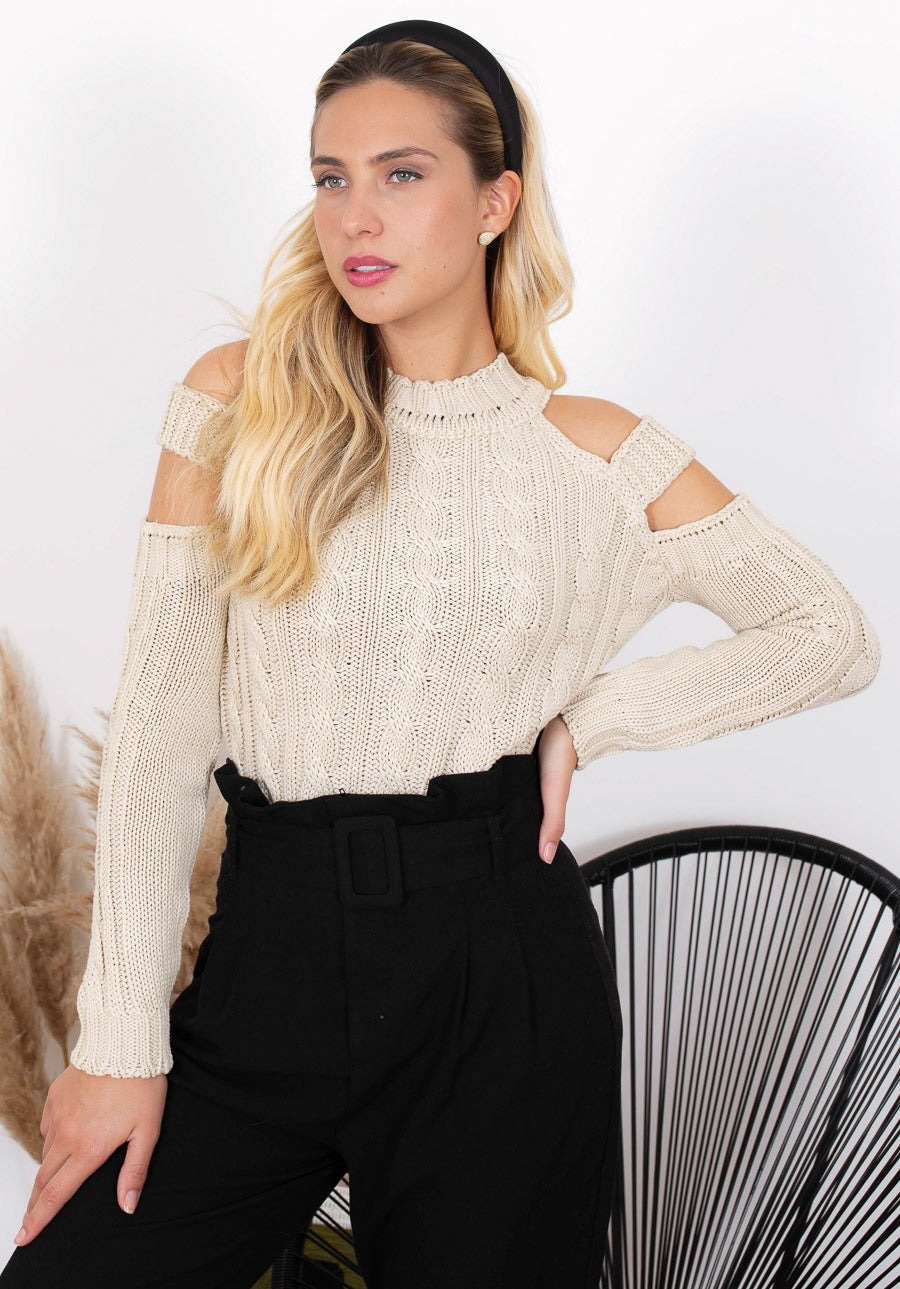 Lisa Beige Knit