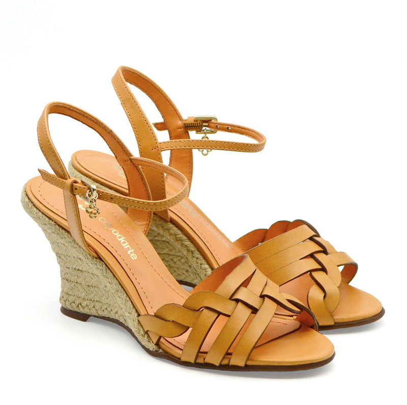 Sara Tan Spadrille Wedge Sandals