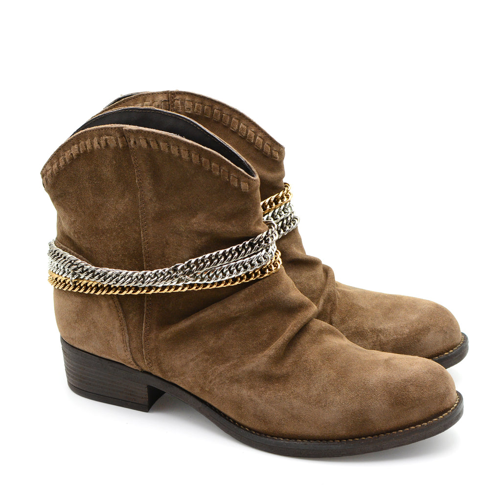 Micca Light Brown Suede Ankle Boots