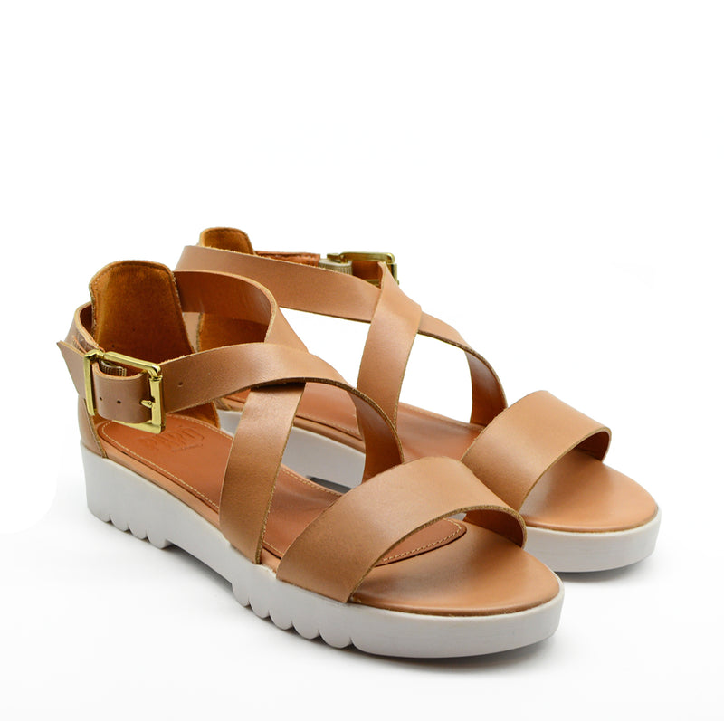 Rafaella Chunky Jelly Flat Sandals in Nude