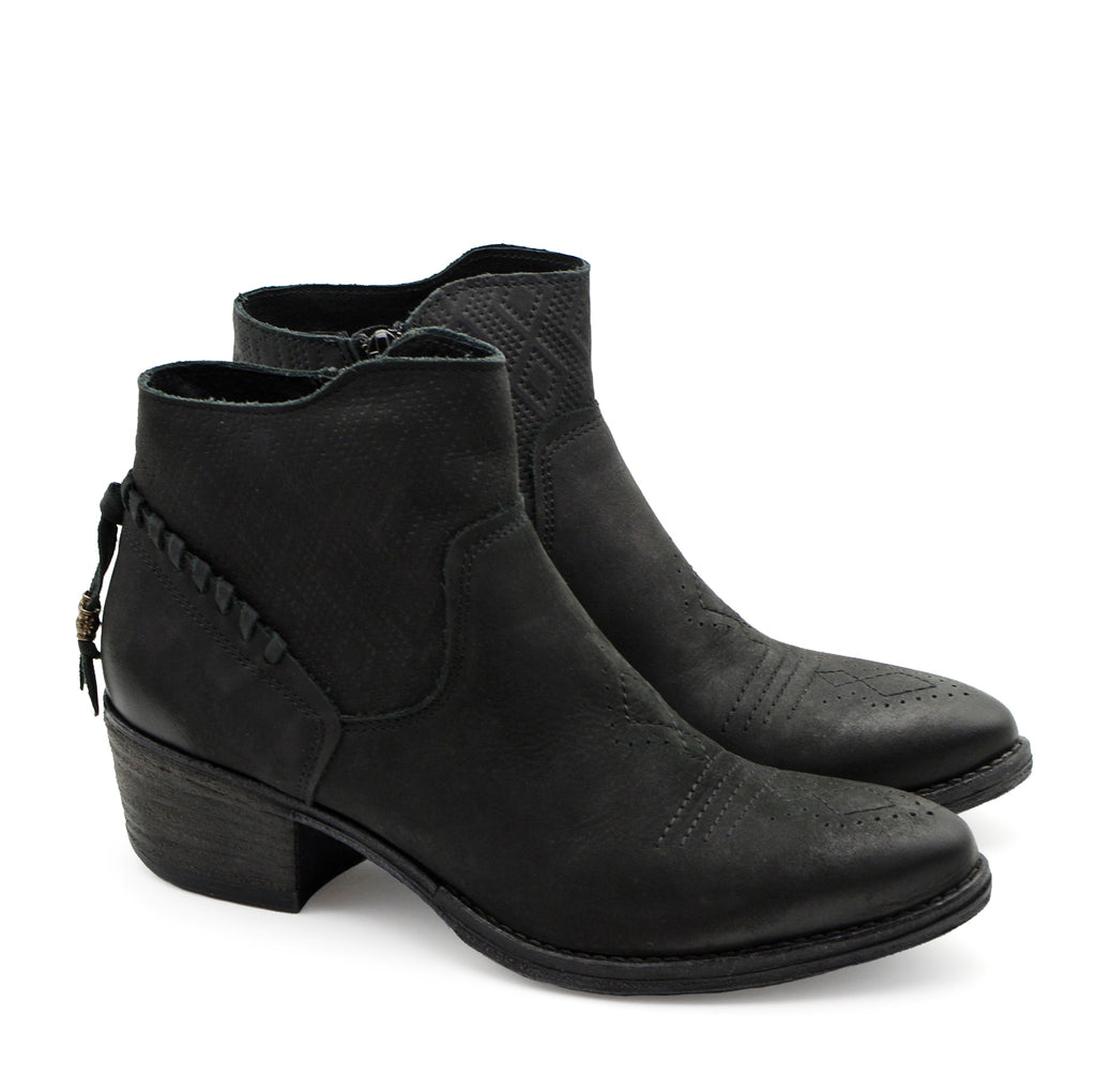 Vanessa Black Suede Ankle Boots