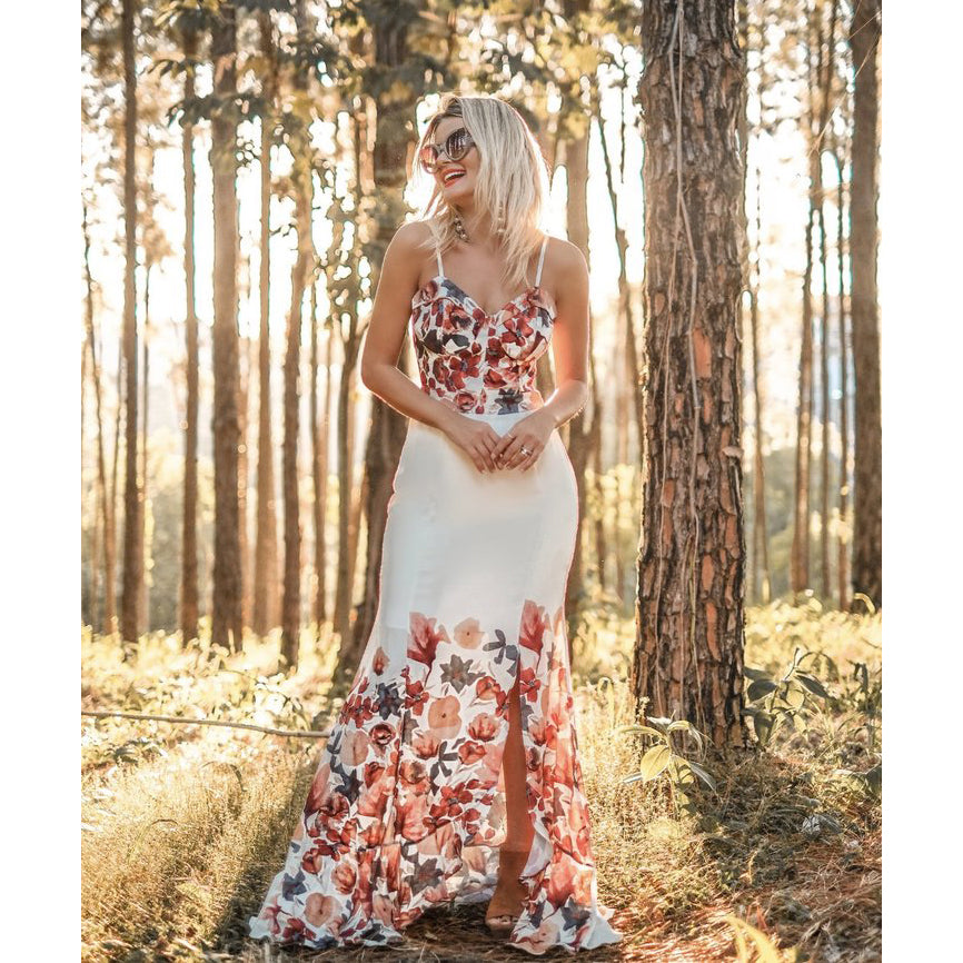 Michela Wedding Guest Floral Dress
