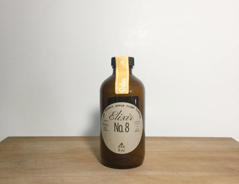 Elixir No 8 + Bergamot | ACV Detox, 8oz *small batch, seasonal