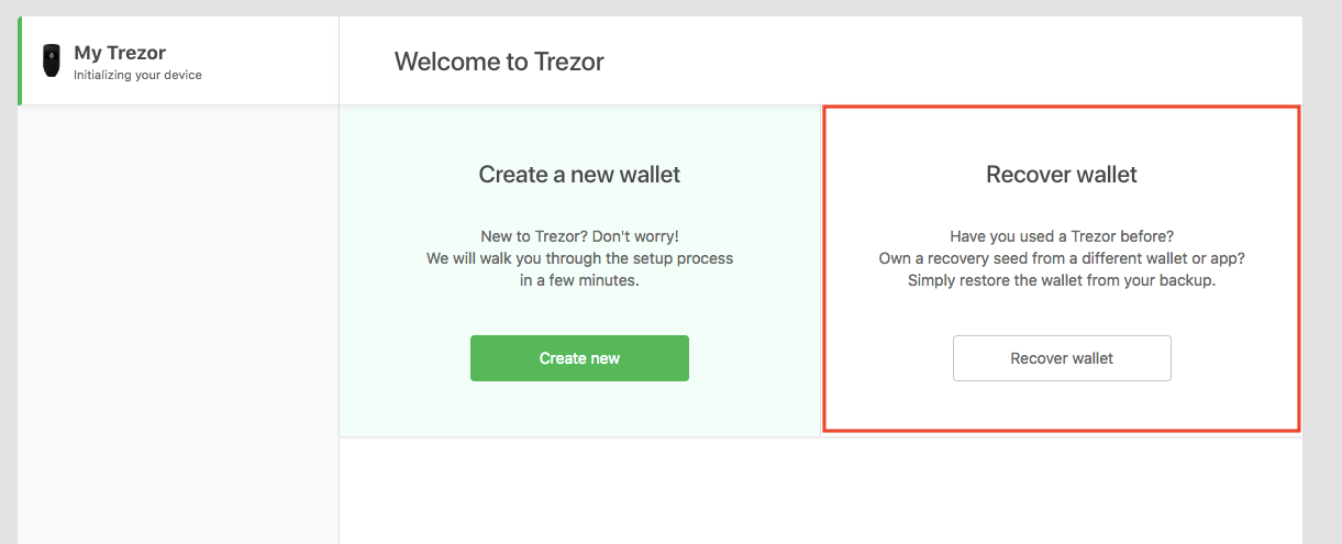 How to Recover your Wallet with the Trezor Model T or Trezor One