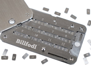 Billfodl Stainless Steel Recovery Seed Backup Tool