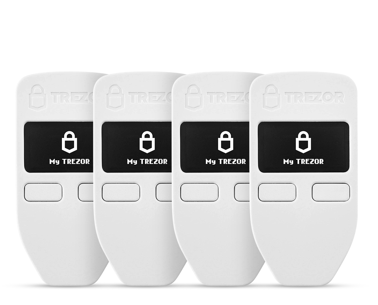 Trezor Model One Family Pack of 4 Hardware Wallets