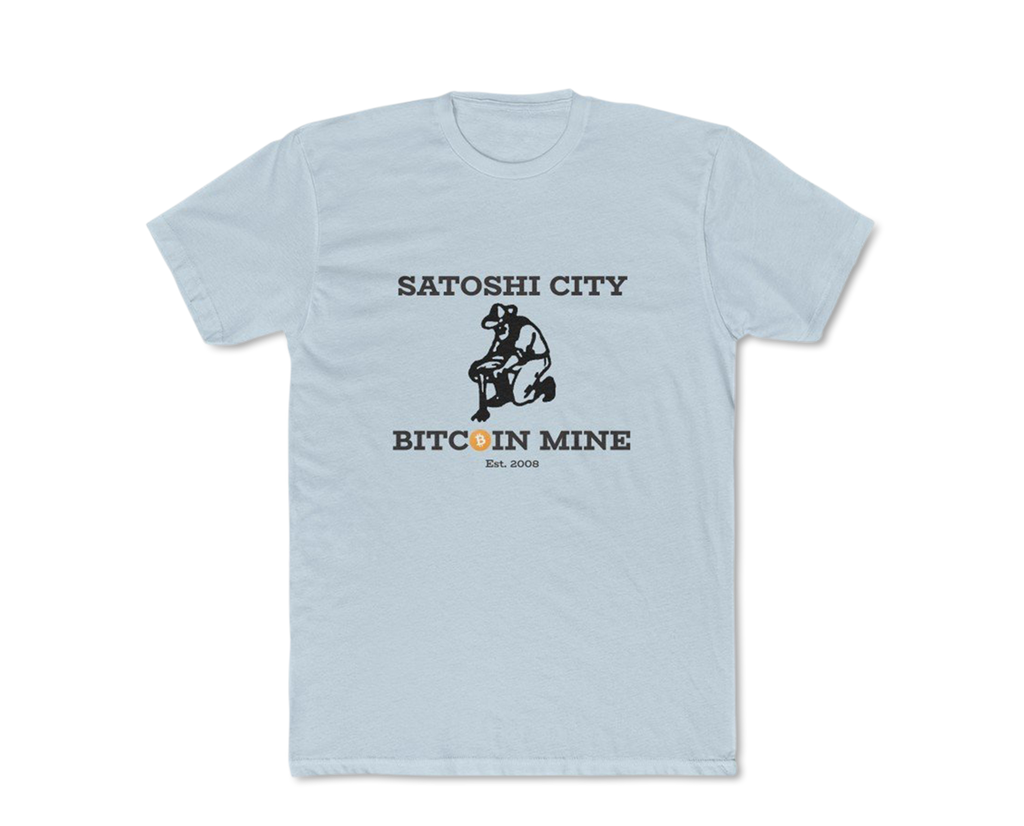 Satoshi City Bitcoin Mine Men's Crew T-Shirt