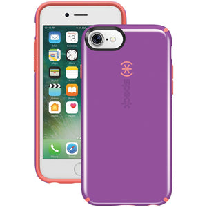 Speck Candyshell Case For Iphone 7 (revolution Purple And Warning Orange)