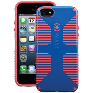 Speck Candyshell Grip Case For Iphone 5 And 5s And Se (harbor Blue And Coral Pink)