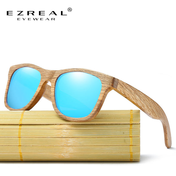 EZREAL Wooden Polarized Sun Glasses