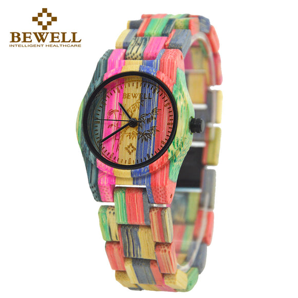 Multi Colored Fashion Bamboo Watch