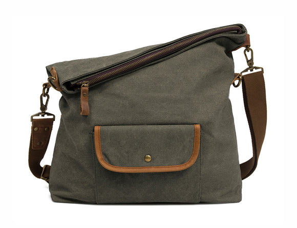 ECOSUSI Unisex Casual Hobo Canvas Cross Body Messenger Shoulder Bags