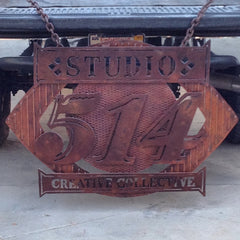 blunt steel sign art metal hand crafted