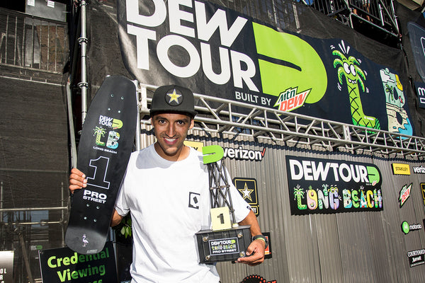 brazil brasil skater blunt steel trophy trophies dew tour award awards long beach skateboard skateboarding