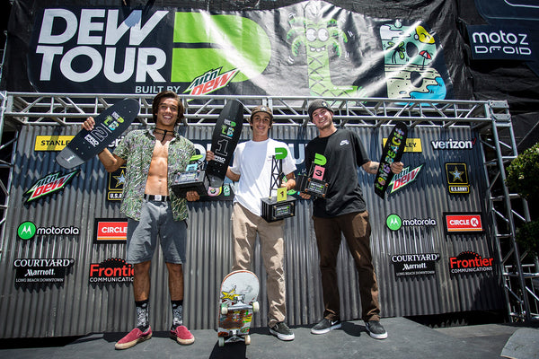 corey juneau winner blunt steel trophy dew tour